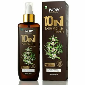WOW Skin Science 10 in1 Miracle Hair No Parabens & Mineral Oil Hair Oil, 200ML