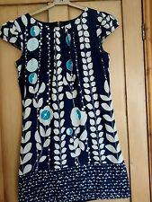 Ax paris Blues floral dress 10 knee length