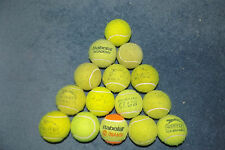 15 USED TENNIS BALLS DOG TOYS PLAY BEACH CRICKET MANY BRANDED