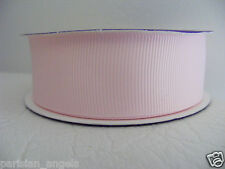 "1""  (25mm) Grosgrain Ribbon Solid Colour  #4003 Baby Pink"
