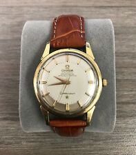 OMEGA CONSTELLATION VINTAGE MENS AUTOMATIC ROLLED GOLD 34MM PIE PAN DIAL NICE!!