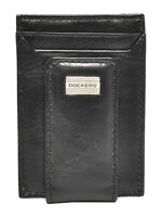 New Dockers Men's Leather Front Pocket Card Case Wallet with Magnetic Money Clip