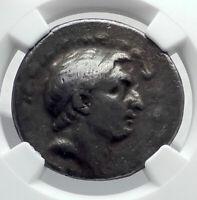 DEMETRIOS I Soter Authentic Ancient Silver Greek TETRADRACHM Coin NGC i80623