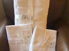 POTTERY BARN Honeycomb FULL/QUEEN Duvet & 2 STANDARD Shams NEW - White