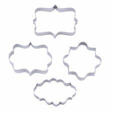 4 Pcs Baking Cookie Cutter Mold Fondant Pastry Biscuit Stainless Steel Mould Set