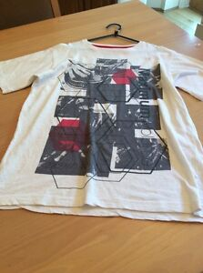 boys clothes 11-12 years Rebel White Cotton Maximum Volume Short Sleeved Top