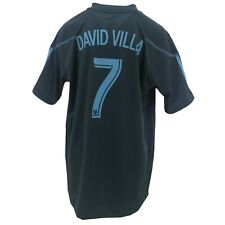 New York City FC Official MLS Adidas Kids Youth Size Athletic David Villa Jersey