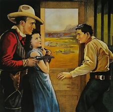 """""""The Stare-down, Western Style"""", Digital print, 18""""h x 18""""w image, 20x20 overall"""