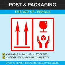 This Way Up / Fragile Packaging Stickers (without words)