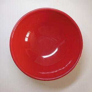 Céramique faïence rouge récipient coupe bol vintage art déco table cuisine N7451