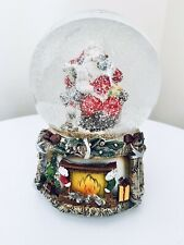SANTA MUSICAL SNOW GLOBE FATHER CHRISTMAS DECORATION, ORNAMENT, XMAS GIFT 14 CM