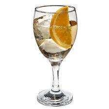 SET of 4-pc Luminarc 'Romantic' 10 Oz Crystal-Clear Burgundy Goblets