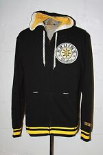 NWT CCM NHL Boston Bruins Black Full Zip Hooded Hoodie Sweatshirt Sz S Small