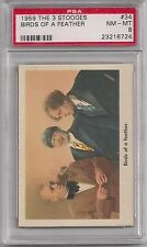 "1959 FLEER THE ( 3 ) THREE STOOGES "" BIRDS OF A FEATHER ""  # 34 - PSA 8 NM - MT"