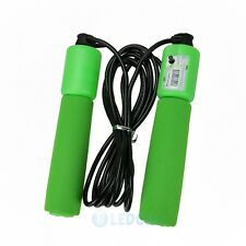 2.6m Handle Skipping Jump Rope Green with Counter Number for Exercise Workout