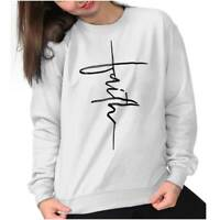 Jesus Christ Faith Religion Christian Fashion Sweat Shirt Sweatshirt For Womens