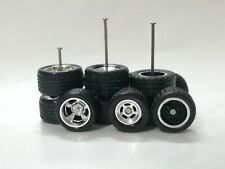 Hot Wheels 1/64 Rubber Wheels Real Riders Size 10mm/12mm 3 sets Mix Axle Size