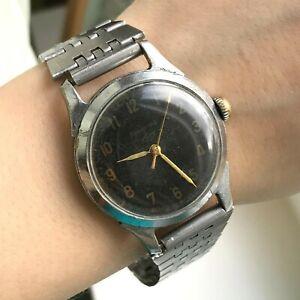 Vintage LENINGRAD Men Soviet Mechanical PCHZ Watch 60s USSR Analog Rare SERVICED