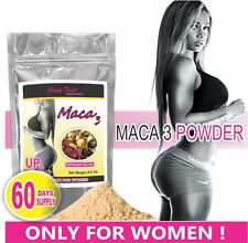 Maca 3 Powder ONLY For Women, Shape your Butt & Hips! 60 DAYS SUPPLY (US Seller)