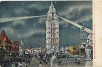 BROOKLYN NY – Dreamland by Night Glitter Covered Postcard – udb (pre 1908)