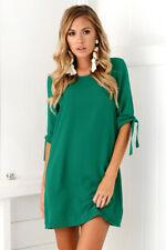 Womens Summer Plus Size Long T-shirt Ladies Casual Party Mini Dress Blouse Tops