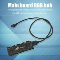 10 RGB Sync HUB Splitter Extension Cable for Motherboard RGB Fan (12V 4Pin)