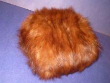Fur Muff Vintage Child's size Brown w/ Satin Lining  Small Handwarmer  6L3