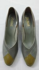 Vintage Retro Footrest Leather Womens Heels Size 8 2A Very Narrow Sizing