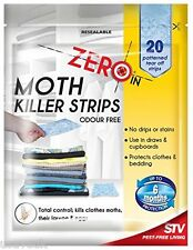 40 x Moth Killer Strips Kills Moths Protects Clothes Bedding Odour Free (2x429)