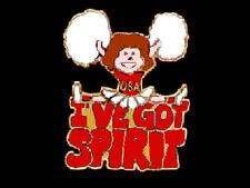 I've Got Spirit Red Cheerleading Lapel Pin LIFT HER SPIRITS