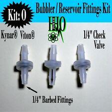 """(3) 1/4"""" Kynar® Viton® Check Valves: HHO Bubbler/ Reservoir Dry Cell Generator"""
