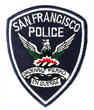 Aufnäher PATCH USA Police San Francisco Frisco SFPD Polizei Amerika blau - weiss