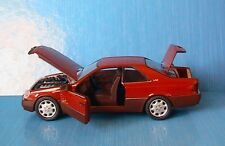 MERCEDES 600 SEC V12 SCHABAK 1/43 MADE IN GERMANY RED COUPE ROUGE ROSSO ROT
