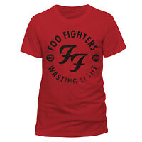 Foo Fighters T Shirt Wasting Light Officially Licensed Mens Red Tee Dave Grohl