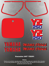 YAMAHA 1987 YZ250 FENDER COVER DECAL GRAPHIC SET