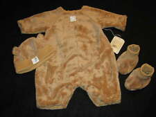 ANNE GEDDES Baby BEAR Outfit  3-6 Months Hat Booties RARE Halloween Costume