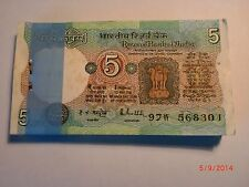 India Paper Money - Full Pack - Rs.5/- Old Notes - Rare - R. N. Malhotra - C-25