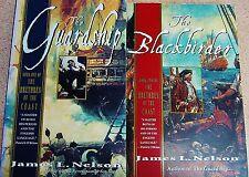 2 BOOK LOT THE GUARDSHIP & BLACKBIRDER JAMES L. NELSON BRETHREN OF THE COAST
