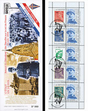"""DG13-4T4 Booklet """"69 years Come back DE GAULLE - Fight as an ally / WWII"""" 2013"""