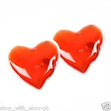 Set of 2 Reusable Gel Heat Pads/Hand Warmers in Heart Shape - Skiing/Handwarmer