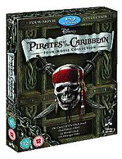 Pirates Of The Caribbean 1-4 Blu Ray Part 1 2 3 4 Movie Film Caribean Caribian