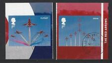 GREAT BRITAIN 2018 THE RED ARROWS SELF ADHESIVE BOOKLET PAIR FINE USED,