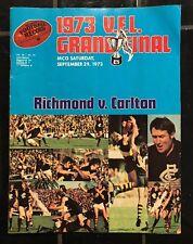VFL FOOTBALL RECORD GRAND FINAL 1973 Carlton Vs Richmond