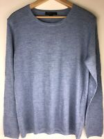 Brooks Brothers 346 Wool Round Neck Long Sleeve Men's Sweater Slate Blue XL NWOT