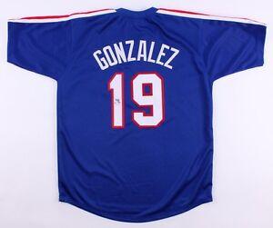 Juan Gonzalez Signed Texas Rangers Jersey (JSA COA)  2×AL MVP (1996, 1998)