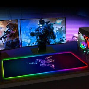 RGB Gaming Mouse Pad Razer Large Led Computer Gamer Mousepad Big Mouse Mat xxl