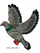 Fensterbild Window Color Bild Fenstersticker Aufkleber Fliegende Taube (325)