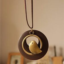 jewelry statement necklaces & pendants, Bird Wooden Bead pendant vintage brown
