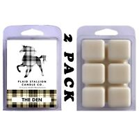 Tobacco and Whiskey Scent (The Den) | 2 Pack Scented Wax Melts Warmer Tarts