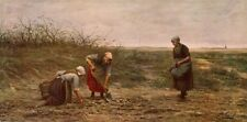PHILIP SADEE 1876 Oil Painting THE POTATO GLEANERS 1914 Antique Book Print